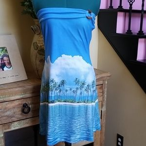 New Aaron Chang Tropical Mini Dress - SZ OS